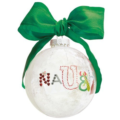 Santa Barbara Design Studio Lolita Holiday Moments Glass Ball Ornament, Naughty and Nice