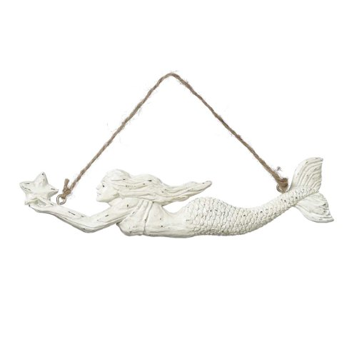Swimming Mermaid with Sea Star Coastal Holiday Ornaments Set of 2 Midwest CBK