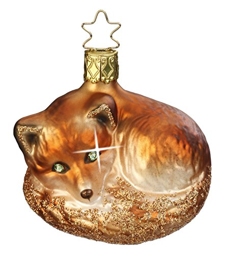 Night Fox, #1-022-15, from the 2015 Animals on Parade Collection by Inge-Glas Manufaktur; Gift Box Included