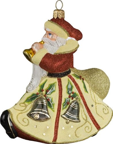 Glitterazzi Eggnog Santa Christmas Ornament by Joy to the World Collectibles – 4.5″H.