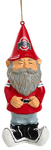 Ohio State Buckeyes Mini Garden Gnome Christmas Ornament