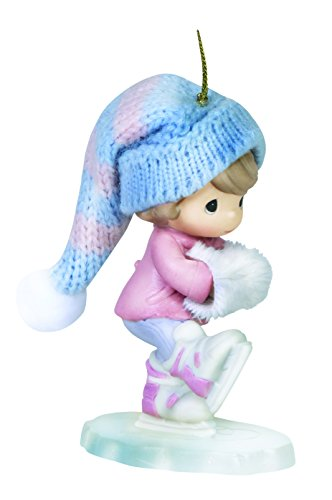 Precious Moments Skating Into the Holidays Girl Skating Ornament