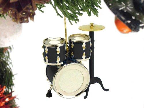 Music Treasures Co. Black Drum Set Christmas Ornament