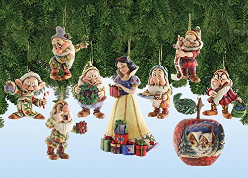 Walt Disney Snow White and the Seven Dwarfs Holiday Ornament Set Showcase Collection by Jim Shore Enesco 4008072