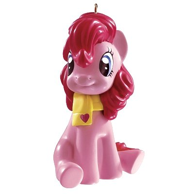 Carlton Cards Heirloom My Little Pony Pinkie Pie Wearing Scarf Christmas Ornament