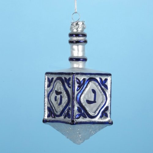 Noble Gems Glass Jewish Dreidel Ornament