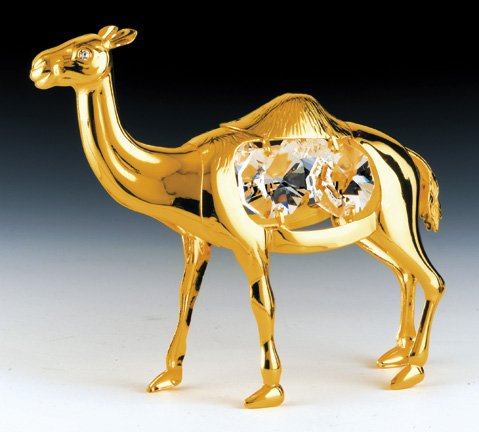 CAMEL 24K Gold Plated Swarovski Crystal Ornament New