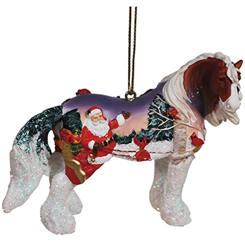 Westland Giftware Horse of a Different Color Ornament, Santa Cardinals