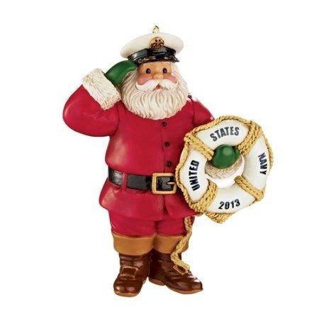Carlton Heirloom Ornament 2013 Proud to Serve – Navy Santa – #CXOR037D
