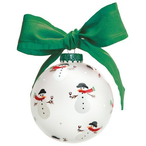 Santa Barbara Design Studio Lolita Holiday Moments Glass Ball Ornament, Frosty's Party