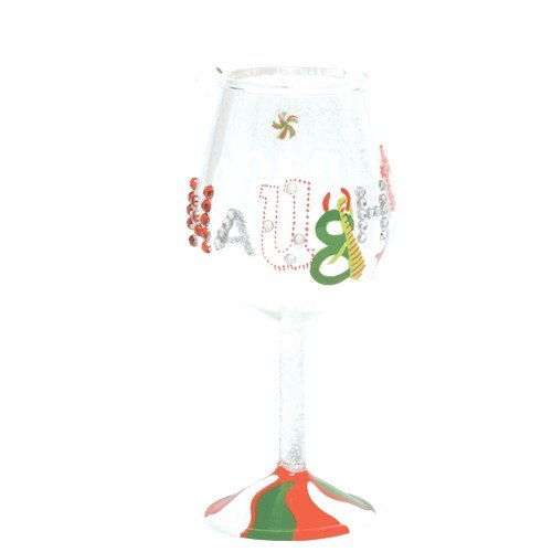 Santa Barbara Design Studio Lolita Holiday Mini-Wine Ornament, Naughty and Nice