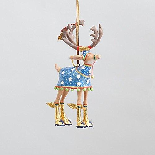 4.75″ Patience Brewster Krinkles Dash Away Comet Decorative Reindeer Christmas Ornament