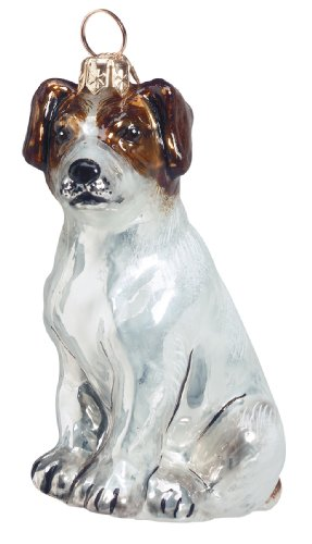 Joy to the World Collectibles European Blown Glass Pet Ornament Jack Russell Terrier