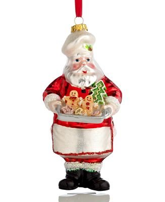 Holiday Lane Santa with Tray Ornament