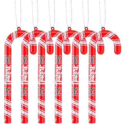 NCAA Nebraska Cornhuskers Candy Cane Ornament Set