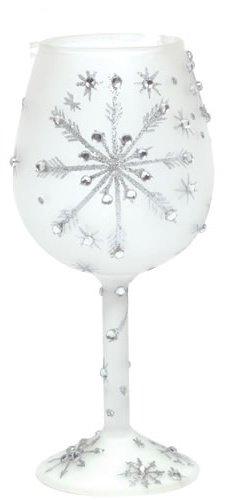 Santa Barbara Design Studio Lolita Holiday Mini-Wine Ornament, Silver Snowflake