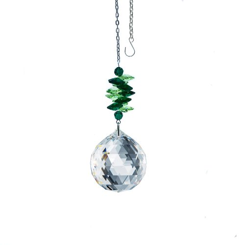Swarovski Ornament DIVA Collection Emerald and Clear Crystal Ornament, Suncatcher Made with Genuine Crystals from SWAROVSKI by CrystalPlace