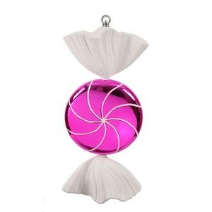 Vickerman Christmas Trees M110709 Swirl Candy Ornament, 18.5-Inch, Pink/White