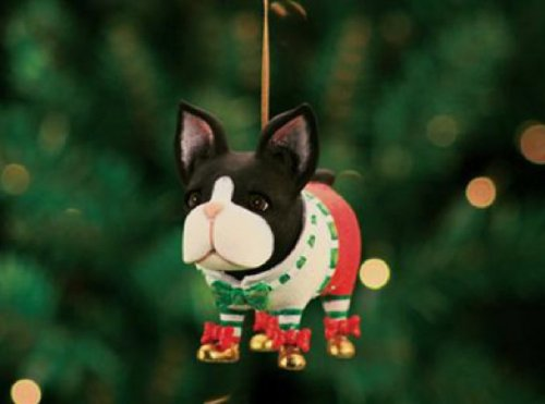 Patience Brewster Boston Terrier Ornament – Krinkles Christmas Décor New 08-30389