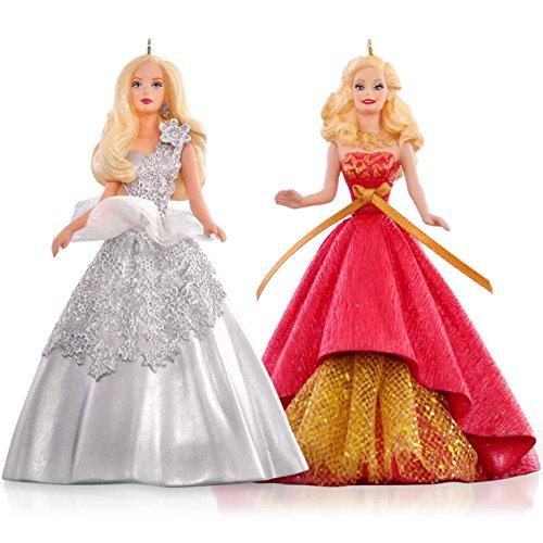 Celebration Holiday Barbie Ornament Set 2015 Hallmark