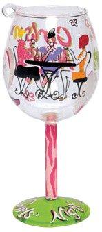 Santa Barbara Design Studio Lolita Holiday Mini-Wine Ornament, Girls' Night In