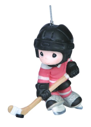 Precious Moments Company Hockey Player Ornament