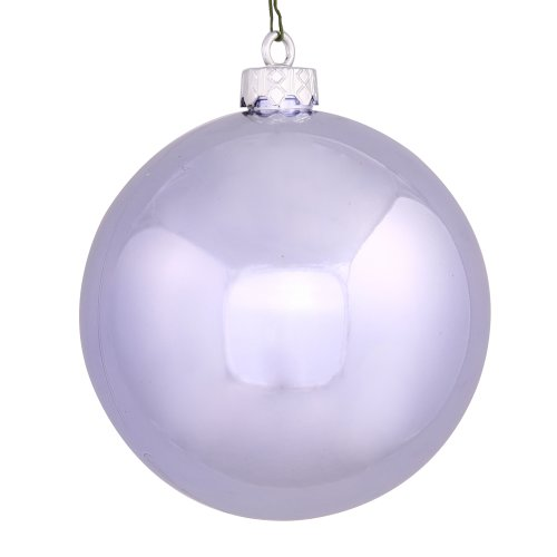 Shiny Lavender Purple UV Resistant Shatterproof Christmas Ball Ornament 2.75″ (70mm)