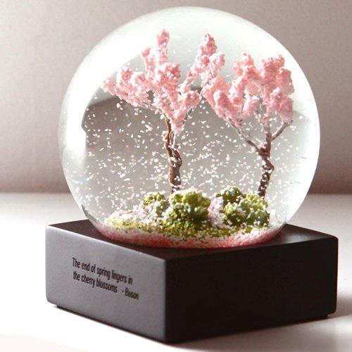4″ Four Seasons Crystal Ball Snow Globes – Creative Desk Ornaments