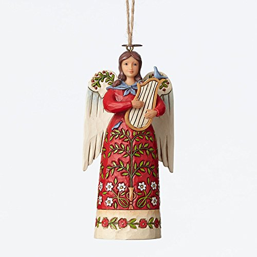 Enesco Jim Shore Wlmsbrg Angel with Harp Ornament