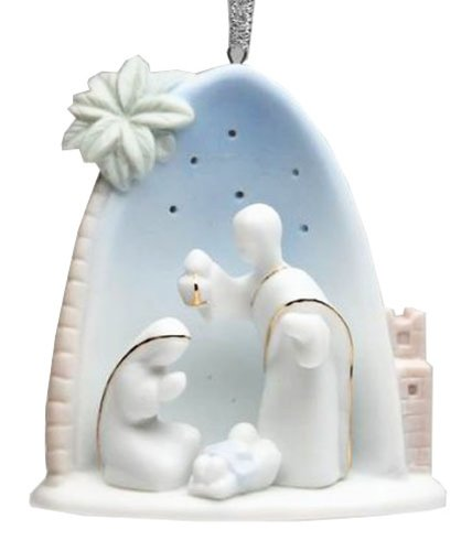 Appletree Design Heaven and Earth Holy Family Ornament, 3-1/4-Inch Tall, Includes Ribbon for Hanging