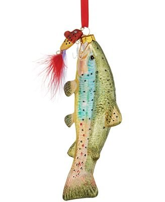 Holiday Lane Trout Fish Ornament