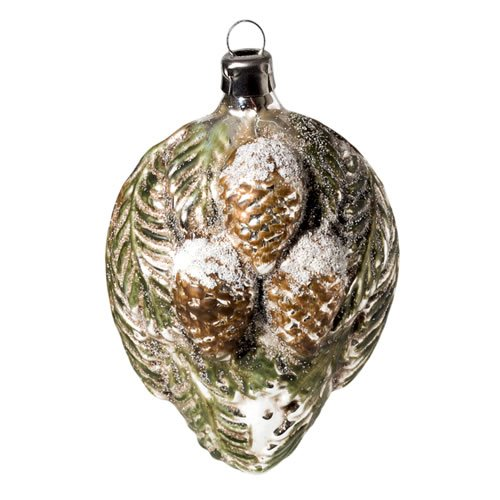 "Vintage mouthblown Christmas Glass ornament ""Large Pine Cones"" by MAROLIN® Germany"