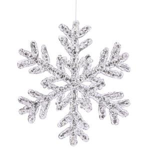 Vickerman Christmas Trees P118108 Snowflakes Crystal Ornament, 8-Inch, Silver