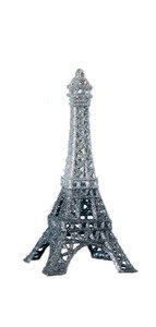 5.5″ Black Glitter Eiffel Tower Paris France Christmas Ornament