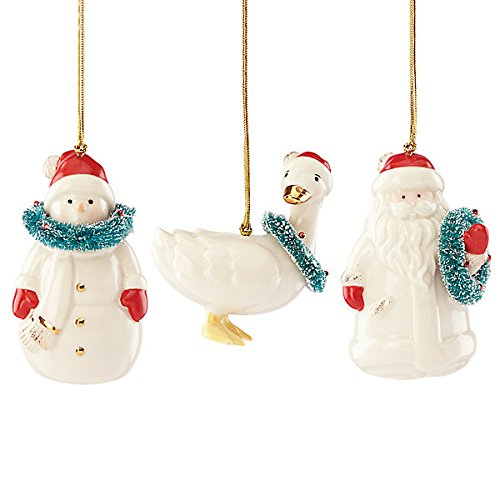 Lenox Very Berry Merry, China Ornaments, Set of 3