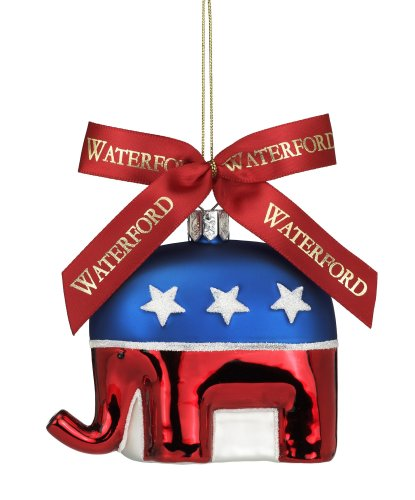 Waterford Holiday Heirlooms Republican Elephant, Christmas Ornament