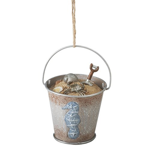 Metal Metal Sand Pail Christmas Ornament