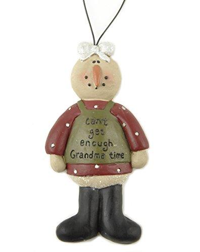 Can't Get Enough Grandma Girl Snowman Resin Stone Christmas Ornament