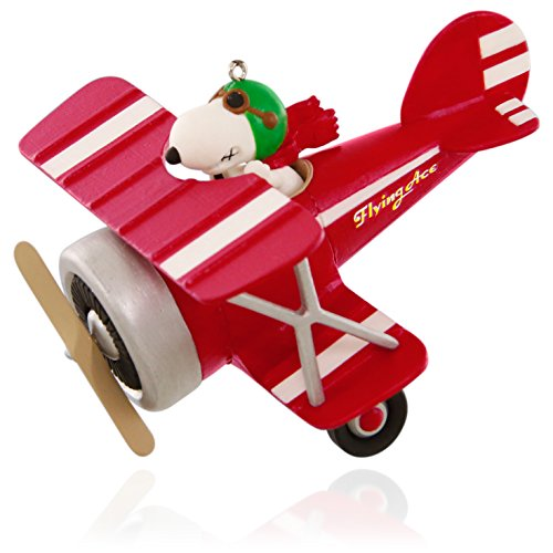 Hallmark Keepsake Ornament Peanuts Flying Ace Snoopy's Red Plane