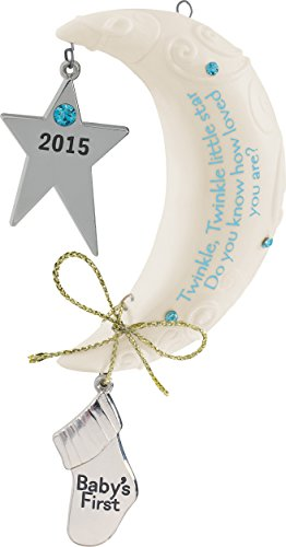 2015 Baby Boy's First Christmas Star/Moom Carlton Ornament