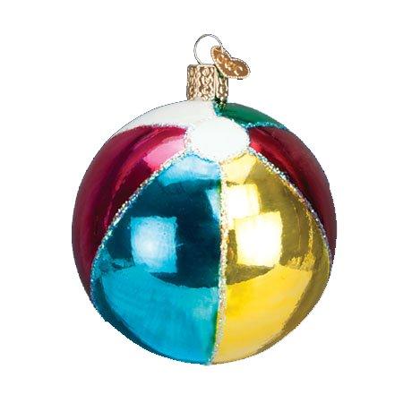 Old World Christmas Beach Ball Ornament