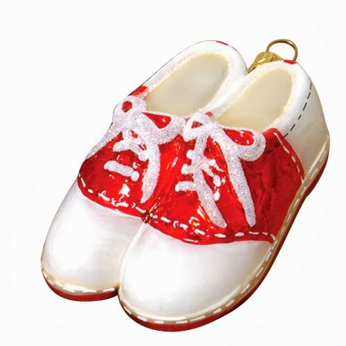 Ornaments to Remember: SADDLE SHOES (RED) Christmas Ornament