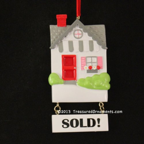 Personalized Real Estate Home Sold Christmas Holiday Gift Expertly Handwritten Ornament