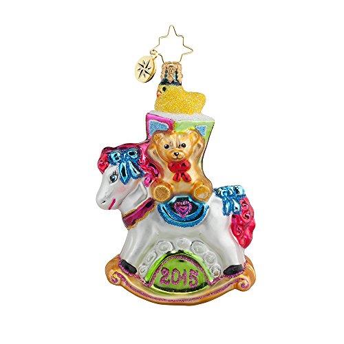 Christopher Radko Rocking New Year Little Gem Christmas Ornament