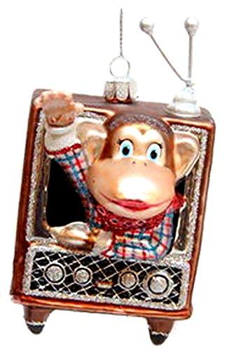 December Diamonds Blown Glass Ornament Howdy Doody Monkey
