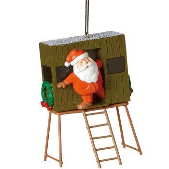 Santa in Deer Stand Ornament
