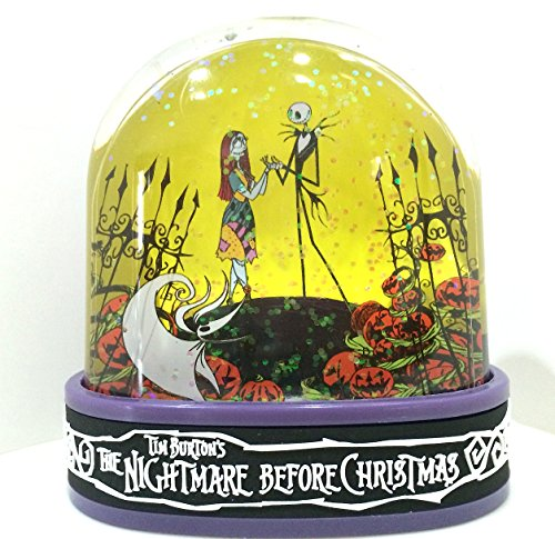 Disney Parks Nightmare Before Christmas Jack and Sally Plastic Snowglobe NEW Snow Dome