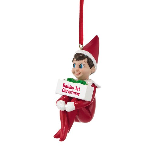 Department 56 Elf on The Shelf Babies 1st Ornament, 3.74-Inch