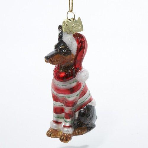 Kurt Adler Noble Gems Doberman Glass Christmas Ornament