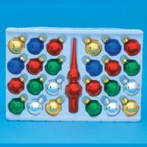 Kurt Adler Glass Multicolored Ball Set